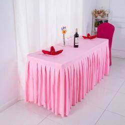 Factory Customized Pleat Table rok voor Wedding Hotel Meeting Banket