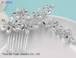 Crystal nupcial de boda Headpiece Rhinestone Silver-Plated Secador de pelo Peine Accessoies