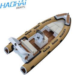 5,5 m/18 pies de la familia 550 Hypalon inflables rígido Rib botes con motor para alquilar