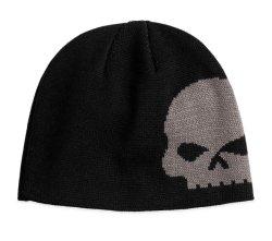 100% algodão preto com sobremedida Beanie quente de Inverno de Crânio Hat