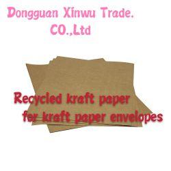 rullo riciclato 60GSM della carta kraft del Brown Piccolo per le buste di carta