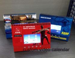 Tela LCD de design personalizado do calendário de vídeo