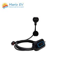 EV-Марио Mode2 ТИП 2 B отображение портативное зарядное устройство переменного тока зарядки разъем 32A 250 В портативных регулируемый зарядное устройство для зарядки электромобиля