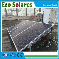 depósito de agua calentador de agua solar piezas de repuesto soporte galvanizado acero inoxidable tubos de vacío caloducto para proyecto solar con pantalla plana TFT