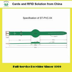 125kHz/13.56MHz en PVC/RFID bracelet en silicone utilisé pour le contrôle des accès (PVC-04)