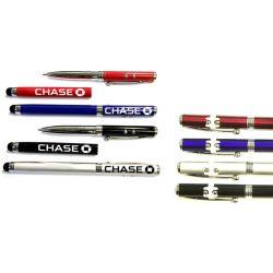 Bolígrafo metálico con puntero láser / LED y lápiz