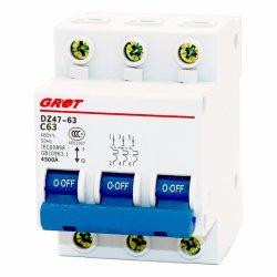 C45 3 Pólos 63um ar de Distribuição de Energia do disjuntor de circuito eletrônico