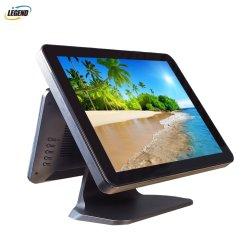 """17 """" +12 """"二重スクリーンの店頭の解決のタッチ画面のWindows POSのコンピュータ"""