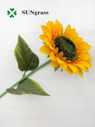 Tela Artificial decorativa flor de girasol de flores de boda al por mayor baratos
