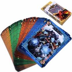 Cmyk печати нестандартного формата бумаги пластиковый ПВХ плата игры в покер карты