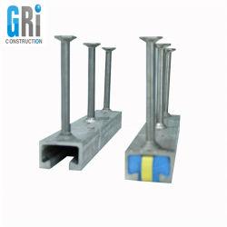 Los canales de anclaje de prefabricados de hormigón y fundidas en el canal