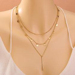 Fashion einfache lange Anhänger Halskette mit gefalteten Band Frauen