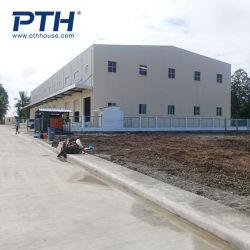 低価格の鉄骨構造フレームの工場によって組立て式に作られる小屋