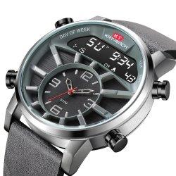 L'ODM/OEM Don Mens Watch Quartz chronographe temps double qualité numérique Imperméables Watch