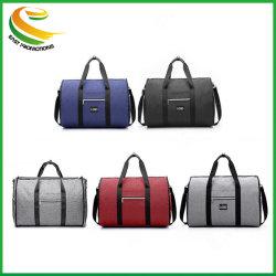 2 en 1 peut porter des chaussures pendaison valise pliable Sacs de voyage costume salle de gym Garment Duffle Sac de voyage de l'épaule