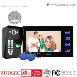 指紋の別荘の通話装置のためのビデオドアの電話