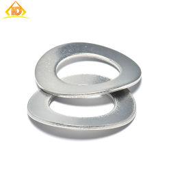 手産業DIN137Aのステンレス鋼SS304 SS316はベアリングのための1つの波のばねロック洗濯機を曲げた