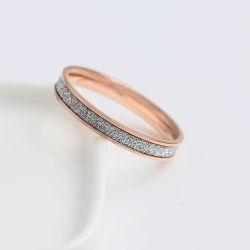 Корпус из нержавеющей стали украшения женщин моды кристально чистый палец кольцо