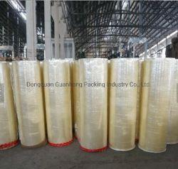 38mícron/40mícron 1280/1600/1620 mm 4000m 6000m Apagar/marrom/Tan OPP BOPP Rolo jumbo a fita adesiva forte poder de retenção