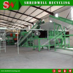 Sucata automática/resíduos/pneu usado cadeia de reciclagem para carro/caminhão a inutilização dos pneus