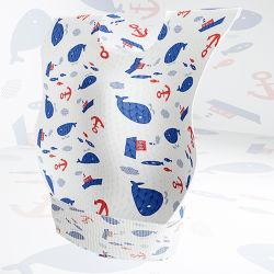 Producir la fábrica de algodón bordado Diseño Personalizado Terry baberos para bebés