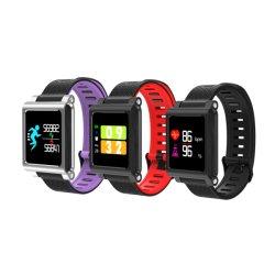 Écran tactile couleur populaire Smart montre téléphone avec appareil photo montre numérique intelligent de contrôle de la pression artérielle en oxygène du sang de montres de remise en forme de moniteur