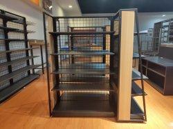 Estilo moderno em madeira e aço Hipermercado Supermercados prateleira com certificação CE