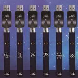 미소 Constellation 시리즈 510 스레드 배터리 320mAh 슬림 트위스트 CBD USB 충전기와 ECS CoS CBD의 비교 Vape 배터리