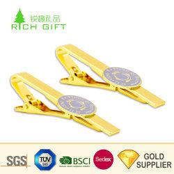 Les fabricants de gros gravée de métal blanc Bus maçonnique Skinny Pistolet d'ancrage en or rose Cufflink lier ensemble les clips de verres d'avion personnalisé Cravate avec logo personnalisé