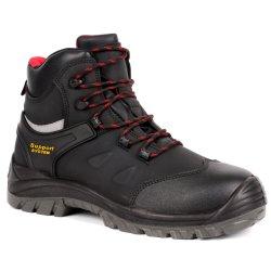 S3 padrão médio de injeção de poliuretano do tornozelo de segurança único equipamento funcionando equipamento PU injetado Equipamento para Engraxar os Sapatos de livre de metal (SN5712)