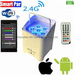 6*18W RGBWA liberdade UV WiFi da bateria IR controlador remoto sem fios opcional par Discoteca luzes LED Mini PAR Uplight