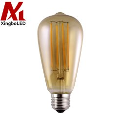 2W 4W 6W 8W à intensité variable st64 Vintage Ampoule de LED avec verre de teinte orange