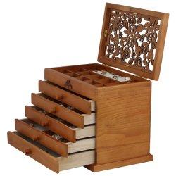 La caja de regalo personalizado con Logo joyero de madera para la marca
