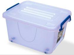 Produtos de plástico de qualidade superior 50L Caixa de armazenamento de plástico contentor Alimentar Caixa de oferta caixa de embalagem com pegas e Rodas