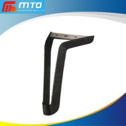 Cromo negro de alta calidad de hierro doblado sofá de la pierna fuerte muebles metálicos personalizados de parte de las piernas