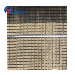 Material de construção Tecidos 10X10 de fibras de basalto Geogrid rede electrossoldada para betão reforço de construção