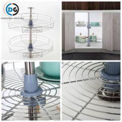 360 grados de cocina, armarios de almacenamiento 900 Cable cesta giratoria
