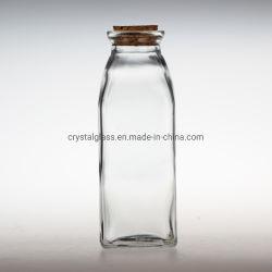 Площадь 300 мл сока лед молока для приготовления чая и стеклянные бутылки с Корк