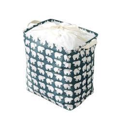 China Manufacturer Custom Logo حمام الفندق حجرة نوم الطفل مخزن قماشي قابل للطي سلة الغسيل الصديقة للبيئة القابلة للغسل