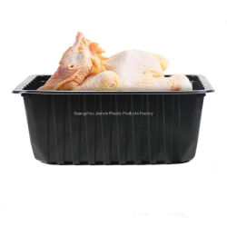 Beschikbare Rechthoekige Biologisch afbreekbare Aangepaste Blaar die de Verse Container van het Voedsel van het Dienblad van de Blaar van het Vlees pp van het Voedsel voor Vers Vlees inpakken