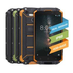 """IP68 Smartphone mit 9000mAh grosser Batterie, MTK Octacore CPU, 5.5 """" FHD Bildschirmanzeige, 4+64GB Speicher, 13MP+5MP Camer, mit Cer, FCC betriebsbereit zu versenden"""