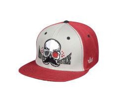 관례 5 위원회 형식 두개골 로고 편평한 테두리 Snapback 모자 및 모자