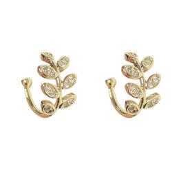 La stella della Boemia dell'oro lascia ad orecchini di clip dell'orecchio di Non-Piercing i monili falsi semplici del polsino dell'orecchio della cartilagine per la ragazza delle donne