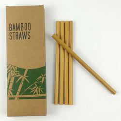 Comercio al por mayor Eco friendly Logotipo personalizado orgánicos naturales reutilizable de fibra de bambú de paja de Agua Potable