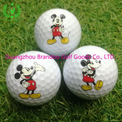Mickey Mouse de souvenirs de l'image 3couche Surlyn Racing Balle de Golf