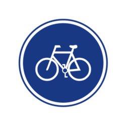 Bicycle signe de la circulation libre de toutes sortes de conception des signaux de circulation peuvent être personnalisés