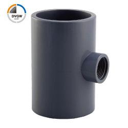 UPVC/plástico certificados pela DVGW para tubos de Pressão Padrão DIN fêmea T de redução