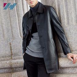 Sprung-und Herbst-kühle Lederjacke-geöffnete Vorderseite für Männer