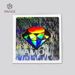 Adesivo di sicurezza 3D ologramma personalizzato con forma quadrata in argento