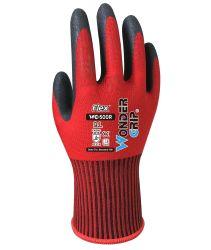 Wonder Grip WG-500r Flex Safety Glove Worklar Single Niitile 코팅 범용 장갑은 젖고 약간 기름기가 있고 건조한 조건에서 성능이 뛰어납니다.